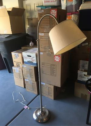 Floor Lamp with Ivory Linen Shade for Sale in Scottsdale, AZ