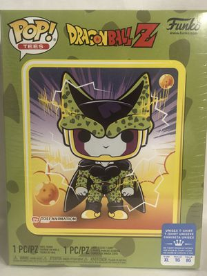 Funko Pop and Tee Dragon Ball Z Perfect Cell Metallic pop and large shirt GameStop exclusive for Sale in Fontana, CA