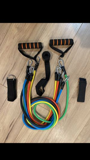 Workout Resistance Bands- 11 Piece Set- Brand New for Sale in Pasadena, TX