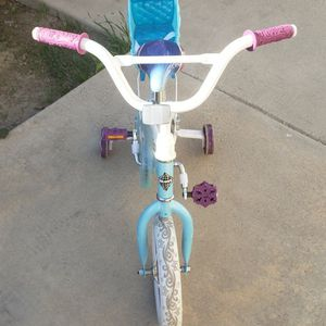 "Disney Frozen 12"" Girls Bike with Doll Carrier for Sale in Huntington Beach, CA"