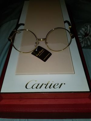 Cartier clear round glasses blk sticks and gold accents for Sale in Cleveland, OH