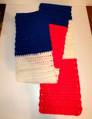 Hand Made Knitted Scarf Red White Blue (stock #29) for Sale in Tampa, FL