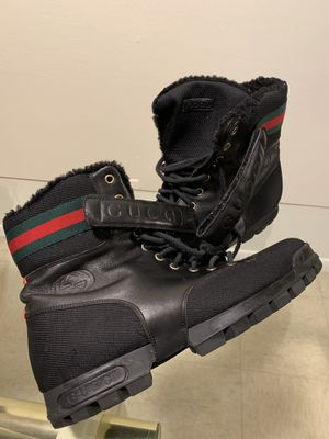 Gucci Black men's leather strap High top boots for Sale in Bronx, NY