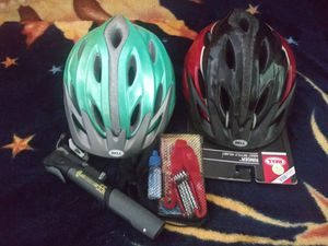 Helmet's, basket, and roller blades for Sale in Santa Ana, CA