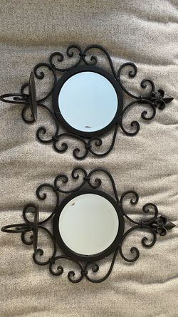 Wrought iron mirror candle holder for Sale in Wake Forest,  NC