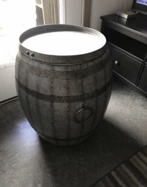 A metal Barrel Storage Table for Sale in Portland, OR