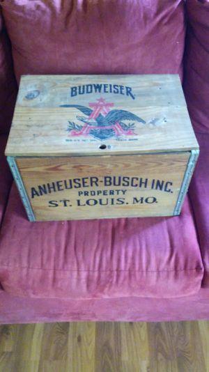 Vintage wooden Budweiser case box for Sale for sale  Vallejo, CA