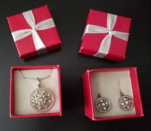 Matching Pendant and Earring Set with Gift Boxes for Sale in Mesquite, TX