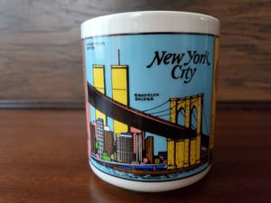 RARE VINTAGE NEW YORK CITY SKYLINE WORLD TRADE CENTER TOWERS COFFEE MUG TWIN WTC for Sale in Chandler, AZ