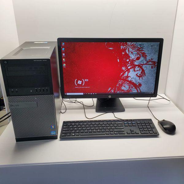 Dell Optiplex 7010, Intel Core i5, 3.40 GHz, 8 GB RAM, 500 GB Hard Drive, VGA Port, Dual Display Ports, DVDRW, Windows 10 Pro 64 Bits, Microsoft