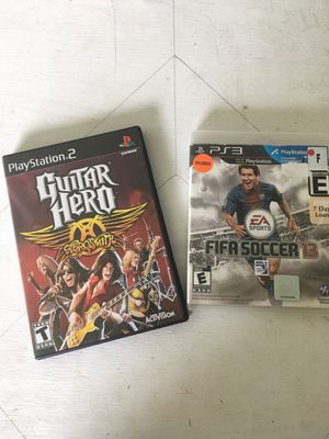 Guitar hero & Fifa soccer 13 ps2 &ps3 for Sale in Fredericktown, OH