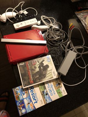 The whole wii lot limited red one 2 controllers and games you see everything works for Sale in West Springfield, VA