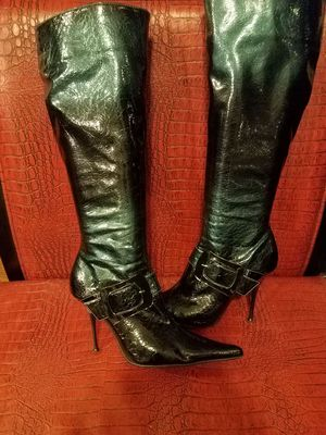 BOOTS - Sexy High Heels for sale  Silver w/accent Buckle for Sale