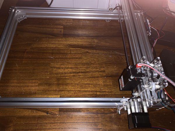 assembled laser cutter