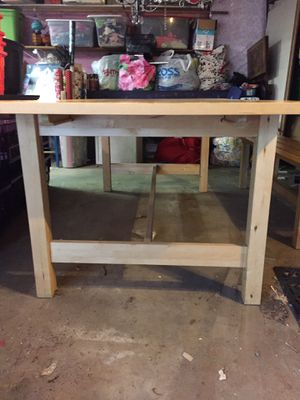 Kitchen dining table from Ikea with matching bench for Sale in Mundelein, IL