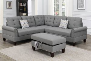 Sectional sofa set with ottoman for Sale in Coachella, CA
