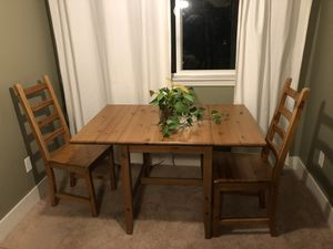 Wooden table and chairs for Sale in Seattle, WA