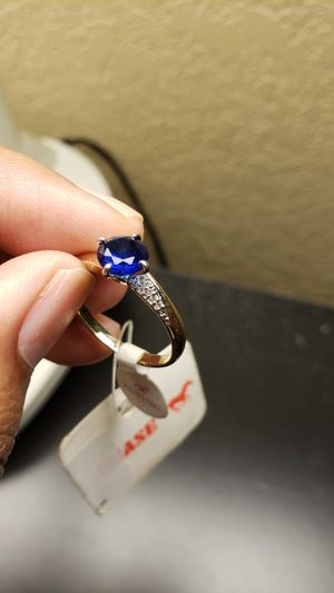 Its beautiful ring with blue stone for Sale in Oliver, WI