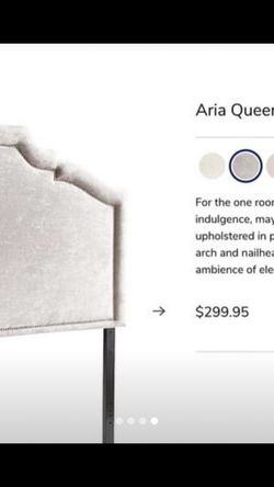 QUEEN HEADBOARD GRAY PIER 1 for Sale in Los Angeles,  CA
