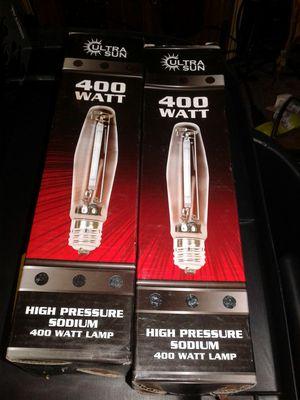 Two 400 watt HPS bulbs 10$ ea for Sale in Tacoma, WA