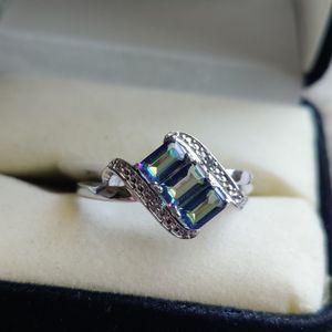 MYSTIC TOPAZ & DIAMOND SILVER RING for Sale in Phoenix, AZ