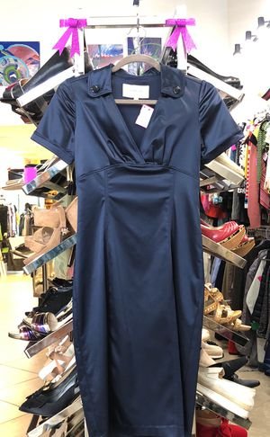 BURBERRY NAVY BLUE PENCIL DRESS SIZE 4 for Sale in West Palm Beach, FL