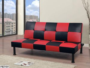 Futon red and black color for Sale in West Sacramento, CA