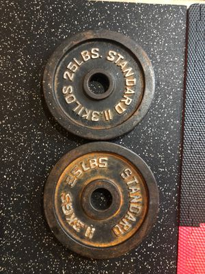 25lb weight plates for Sale in Joliet, IL