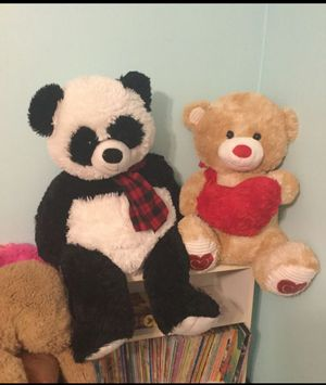 Two Large Valentine's Day Stuffed Animals Both for $10 for Sale in Virginia Beach, VA