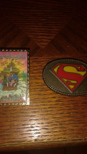 Disney collectible pins from Walt Disney World and a child Superman belt buckle 1944 DC Comics for Sale in New Port Richey, FL