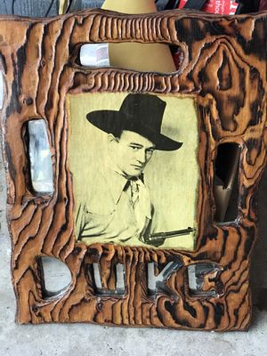 John Wayne wood Art memorabilia DUKE for Sale in Orion charter Township, MI