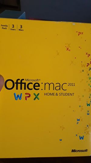 Microsoft Office Mac 2011 wpx home and student for Sale in Pittsburg, CA