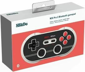 New 8Bitdo N30 NES Pro2 Wireless Bluetooth Gamepad Controller N Edition Nintendo Switch MacOS Android and New retro carrying case for Sale in Pomona, CA