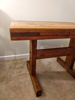 Solid Wood Trestle Table for Sale in Raleigh, NC