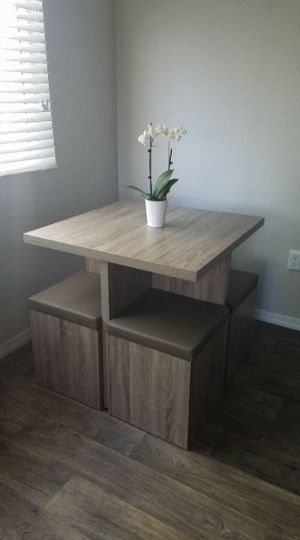 New!! Table and chairs, storage stools, kitchen table, dining table, small table with storage for Sale in Phoenix, AZ
