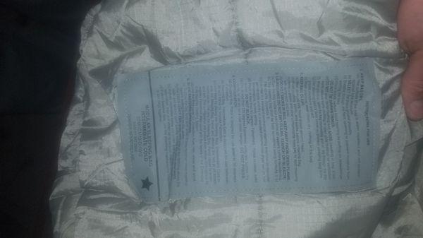 Army Cold temp sleeping bag
