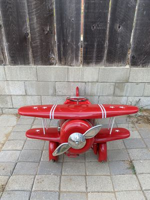 Red Baron vintage refinished ride in kids airplane for Sale in Los Osos, CA