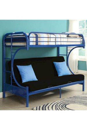 BEST Price 👑 Brand NEW Erica Blue Metal Twin/Futon Bunk Bed | 4480 for Sale in Jessup, MD