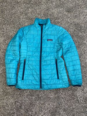 Patagonia XS nano puff turquoise puffer jacket women for Sale in Portland, OR