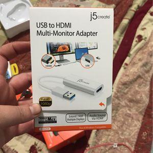 USB To HDMI Multi Monitor Adapter for Sale in Visalia, CA