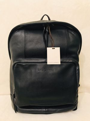 James Campbell Black Leather Padded Men Woman Backpack for Sale in Brooklyn, NY