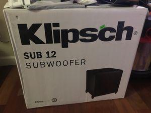 New in box Klipsch 12 inch subwoofer 300 Watt for Sale in Happy Valley, OR