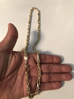 Figaro Chain 14k Solid. Real Gold. 49.9 grams. 24 long. NO TRADES. $1825 for Sale in Los Angeles, CA