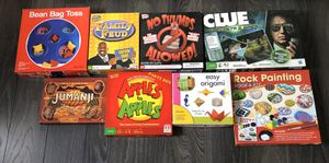 Board games Bean bag toss Family feud clue Jumanji apples to Apples for Sale in Winter Haven, FL