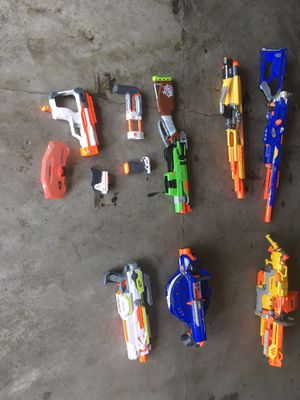 Nerf gun lot for Sale in Nowthen, MN