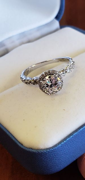 925 Sterling Silver, Halo Cut AAA Cubic Zirconia Stones, Wedding/Engagement Ring Size 4, 4.5, 5, 6, 7, 7.5, 8, 9, 9.5 & 10 for Sale in Portland, OR