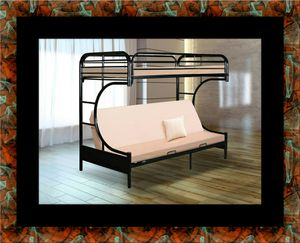 Twin futon bunk bed frame for Sale in Silver Spring, MD