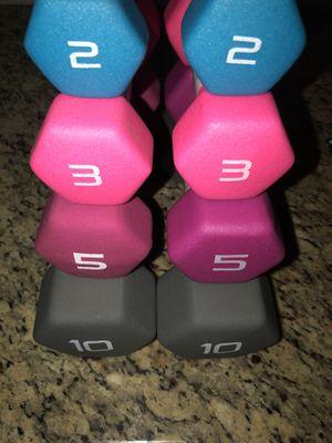 (New) 2, 3, 5 & 10 LB Dumbbells set for Sale in San Jose, CA