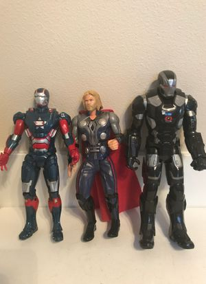 "Captain America, Thor , iron man black with sound effects 110-11"" tall for Sale in Kirkland, WA"