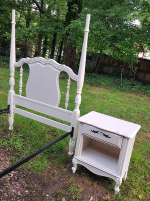 Twin bed frame whit night stand for Sale in Springfield, VA